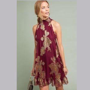 🆕NWT hard to find orig $298 Metallic Rose Dress